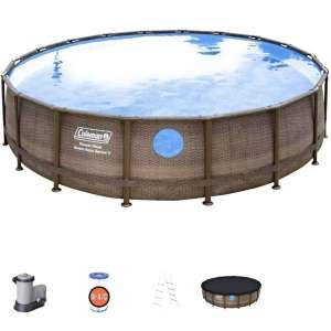 Ylight 36676Cm Round Metal Frame Backyard Above Ground Swimming Pool, Summer Swimming Pool Toy, The for Children