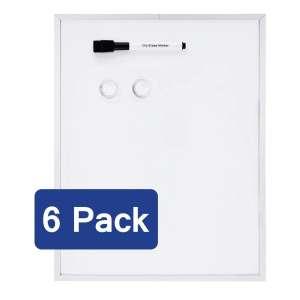 AmazonBasics Magnetic White Board with Aluminum frame, 6 pack