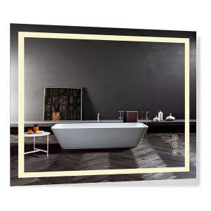B & C Super Slim 30 x 36 Inches LED Lighted Bathroom Mirror