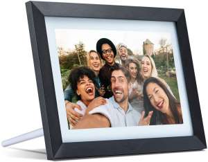 Digital Picture Frame WiFi 10.1 inch Electronic Photo Frame IPS Touch Screen HD Display, Share Moments Instantly via iOS