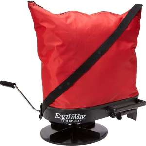 Earthway 2750 Hand-Operated Nylon Bag Spreader Seeder, Perfect for Hilly and Wet Terrain, 25 Pounds Capacity, Made in America