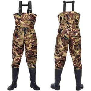 GLMHRNNA bootfoot Waders,Waders for Men with Boots Fishing Waders Hip Waders