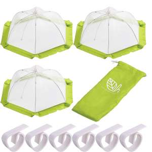 H. 3 Pack Food Tent Covers with Table Clips