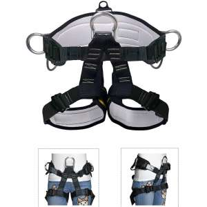HeeJo Thicken Climbing Harness, Professional Mountaineering Safety Harness