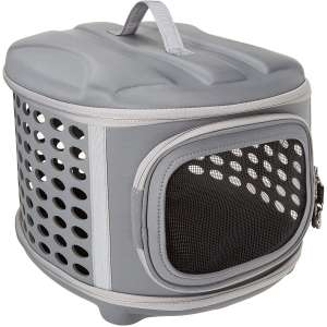 Pet Magasin Hard Cover Collapsible Cat Carrier - Pet Travel Kennel with Top-Load & Foldable Feature