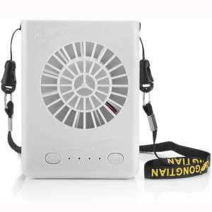 Powza Portable Necklace Multi-Functional Rechargeable Mini Fan 3 Speeds Personal Cooling Fan