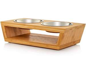 Premium Elevated Dog and Cat Pet Feeder, Double Bowl Raised Stand Comes