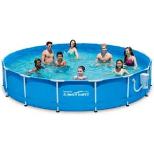 Summer Waves 15' Metal Frame Pool Set