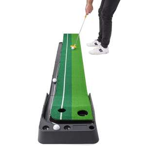 Abco Tech Indoor Golf Putting Green – Portable Mat with Auto Ball Return Function