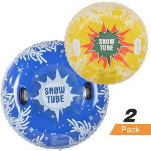 HIWENA 2 Pack Inflatable Snow Tubes