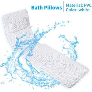 KR Bath Pillow Full Body,Non-Slip Cushioned Bathtub Pillow,Luxury 3D Air Mesh Spa Bathtub Cushion