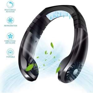 Portable Air Conditioner Fan - Rechargeable USB Personal Neck Fan with 3 Level Air Flow