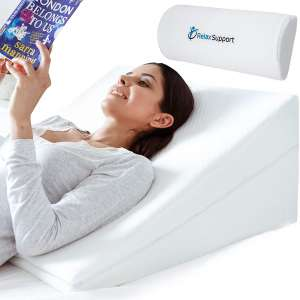 Relax Support RS6 Wedge Pillow Whole Memory Foam 3-in-1 Technology Large Adjustable Bed Pillow