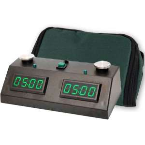Zmart Fun II Digital Chess Clock with Wedge Bag Carrying Case