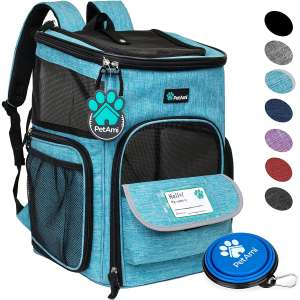 PetAmi Pet Carrier Backpack for Small Cats, Dogs, Puppies Airline Approved Ventilated, 4 Way Entry, Safety and Soft