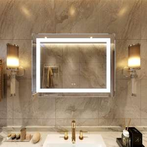 Petus PetusHouse 36 x 28 Inches Lighted LED Bathroom Mirror