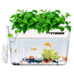 VIVOSUN Aquaponic Fish Tank Hydroponic Cleaning Tank Fish Feeds Plants