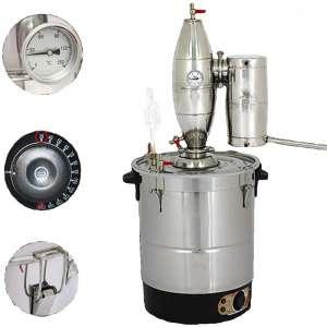 WMN_TRULYSTEP 20L:5Gal Electrothermal Ethanol Alcohol Still Stainless Steel Boiler Spirits Oil Water Distiller Wine Making Kit Moonshine