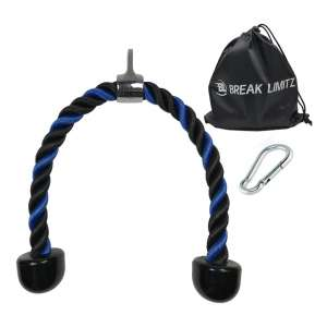 Break Limitz 27 or 36 Inch Heavy Duty Blue Tricep Rope Pull Down