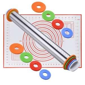 Keador Adjustable Stainless Steel Rolling Pins
