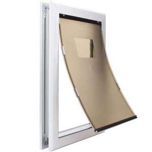 MAVRICFLEX Dog Door, Large Dog Door for Dogs and Cats, XL Dog Door Works Silently, Dual Flap Closure Heavy Duty Door
