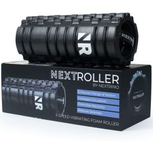 NextRoller 3-Speed Vibrating Foam Roller - High Intensity Vibration for Recovery, Mobility, Pliability Training