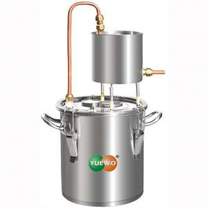 YUEWO Moonshine Still Alcohol Distiller Alembic Spirits Alcohol Wine Making Boiler with Thermometer Pump for Whisky Brandy Vodka 304 Stainless Steel