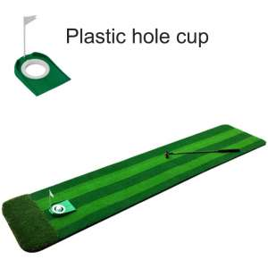 softneco Professional Golf Training Practice Equipment for Indoor,Mini Portable Golf Putting Mat,Extra Long Putting Green Mat 3m