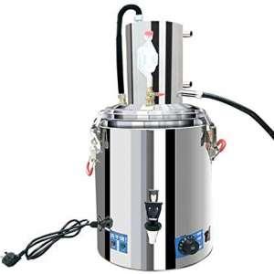 23L Automatic Alcohol Distiller Moonshine Still with Heating and Temperature Adjustment 30° Constant Temperature Fermentation