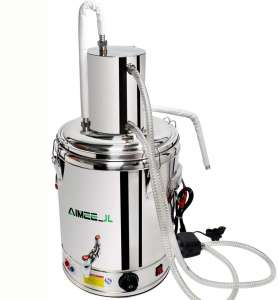 23L Automatic Alcohol Distiller Moonshine Still with Heating and Temperature Adjustment 30° Constant Temperature Fermentation and 70° 52° 42° 28°