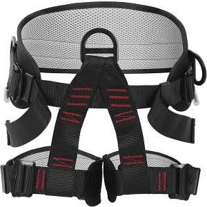 AmazeFan Climbing Harness, Thicken Rock Climbing Harness for Men Women, Protect Waist Safety Harness, Wider Half Body Harness