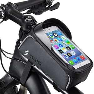 Bike Phone Front Frame Bag - Waterproof Top Tube Cycling Bags Bicycle Phone Bag
