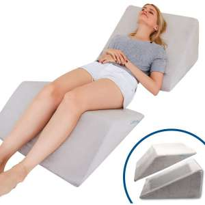 Lisenwood Foam Bed Wedge Pillow Set - Reading Pillow & Back Support Wedge Pillow