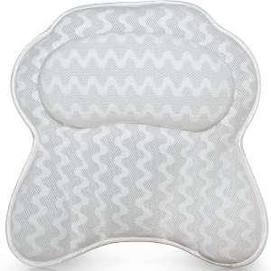 Luxurious Bath Pillow for Women & Men Ergonomic Bathtub Cushion for Neck, Head