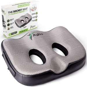 Socket Seat - Memory Foam Sit Bone Relief Cushion for Butt, Lower Back, Hamstrings