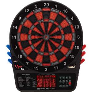 Viper 800 Electronic Dartboard, Extended Scoreboard For Spanish Cricket