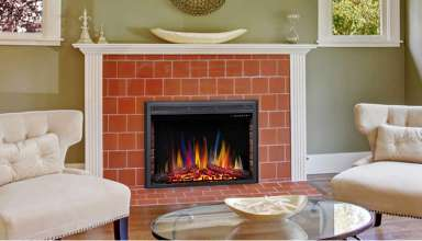 image feature Electric Fireplace Inserts