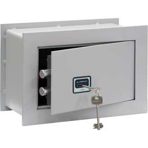 Arregui BC 1 Wall Safe with Lock, Light Grey