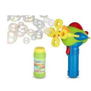 BAMGO Bubble Gun Blower for Kids Non-Toxic 4 Wands Ring Shooter