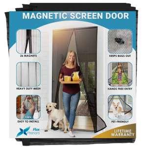 Flux Phenom Black Reinforced Screen Door