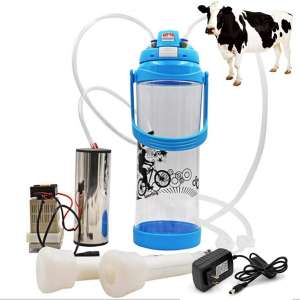 Portable Milking Machine, Electric Vacuum Pump Milker Machine with Pulse Controller 3L Bottle and 2 Milker