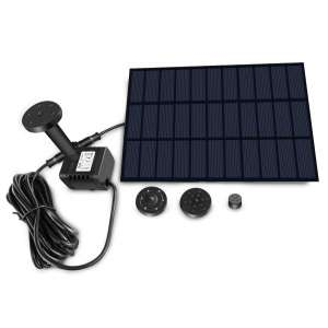 Sunlitec Solar Fountain with Panel Water Pump for Outdoor fountain