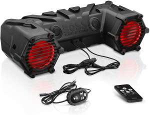 BOSS Audio Systems ATV30BRGB ATV UTV Weatherproof Sound System - 6.5 Inch Speakers, 1 Inch Tweeters, Built-in Amplifier, Bluetooth