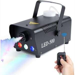 MOMSIV Halloween Fog Machine with Lights - Disinfection LED Smoke Machine