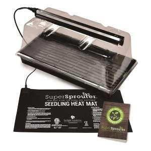Super Sprouter HGC726402 5 Piece Premium Propagation Kit, Black/Clear