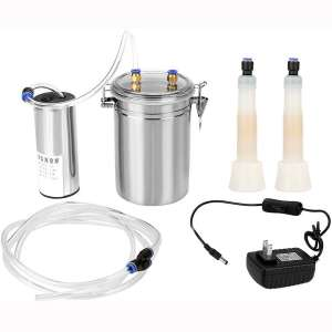 DEWIN Milker 2L Electric Milking Machine for Cow, Portable Stainless Steel Milker