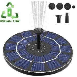 Viajero Upgrade 2.5W Portable Solar Fountain Pump for Bird Bath