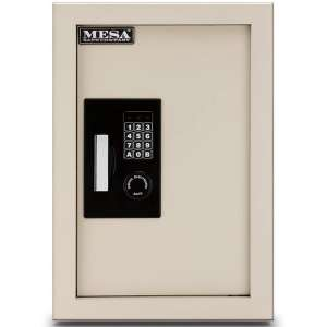 Mesa Safe Company Model MAWS2113E Electronic Wall Safe, Cream