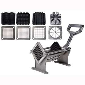Potato French Fry Fruit Vegetable Commercial Cutter Slicer Cutting W: 4 Blades US