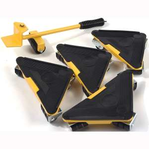 Heavy Duty Furniture Lifter with Triangle Moving Sliders Mover Tool Set Moving Appliance Roller Load